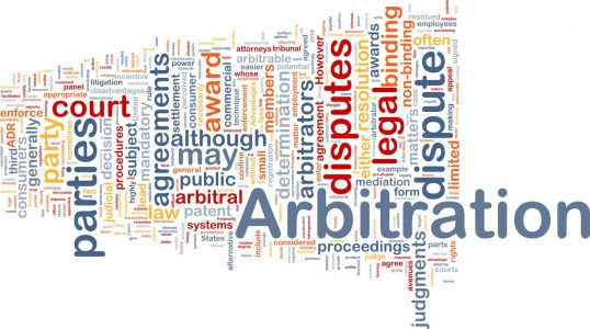 Background concept wordcloud illustration of arbitration